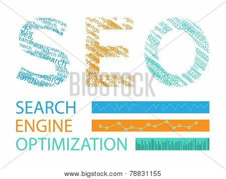 Vector Illustration Concept Of Seo Word