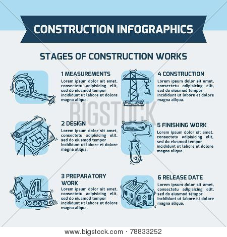 Construction Infographics Sketch