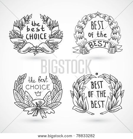 Wreath Emblems Set