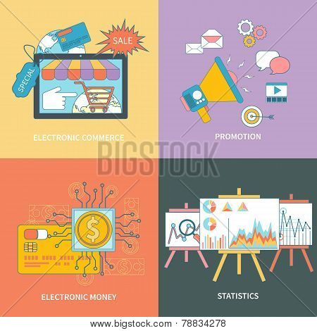 Electronic commerce, statistic, promotion