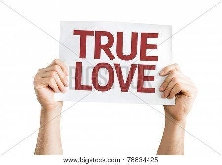 True Love card isolated on white background