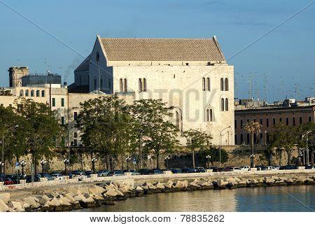 Basilica of San Nicola in Bari at dawn