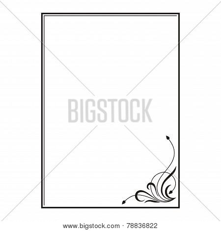 rectangular frame with floral ornament