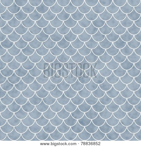 Blue And White Shell Tiles Pattern Repeat Background