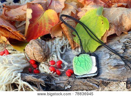 Ethnic Handmade Clay Amulet
