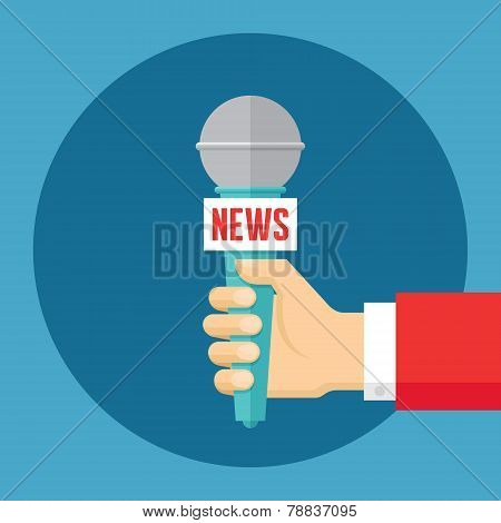 News vector concept illustration in flat style design. Journalism concept vector illustration. Press