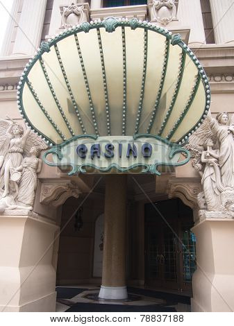 Stylish Entrance To The Casino At The Paris Hotel In Las Vegas
