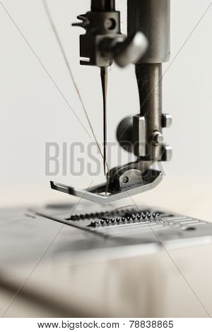 Sewing machine, close up