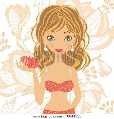 Beautiful girl in lingerie