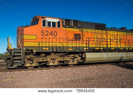 Stationary BNSF Freight Train Locomotive No. 5240
