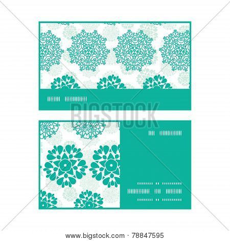 Vector abstract green decorative circles stars striped horizontal stripe frame pattern business card