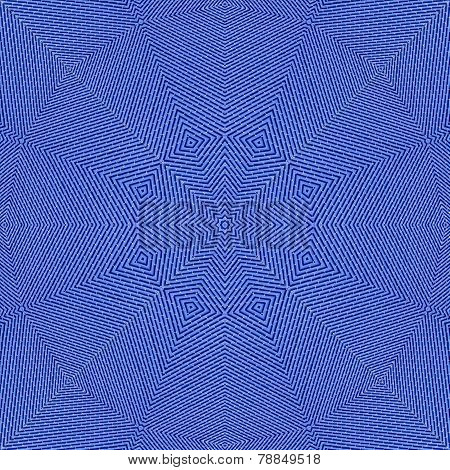 Pattern Of Blue Metal Tiles