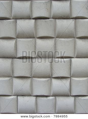 White Tile Pattern On A Wall