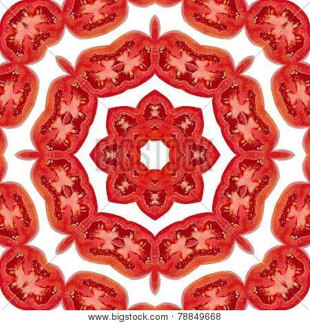 Pattern Of Tomato Slices