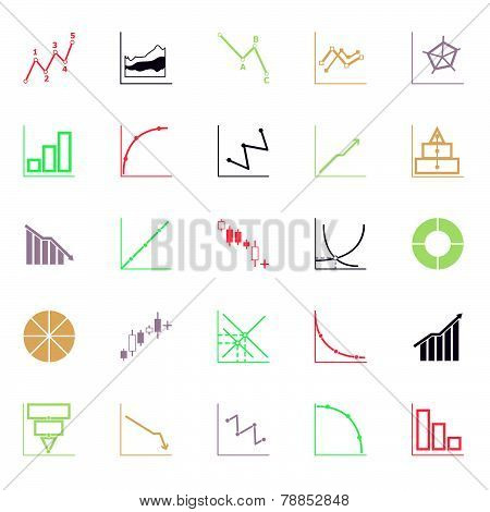 Economic And Investment Diagram Line Icon Flat Color