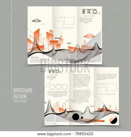 Futuristic Tri-fold Brochure Design