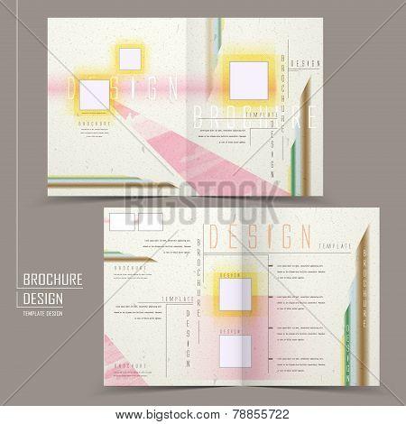 Modern Half-fold Brochure Design Set