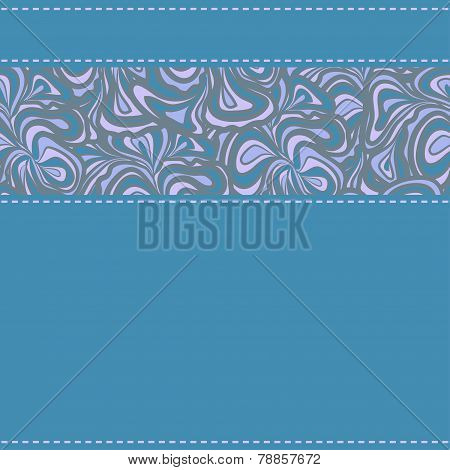 Blue textil with ornamental stripe