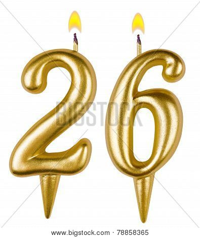 Birthday Candles Number Twenty Six