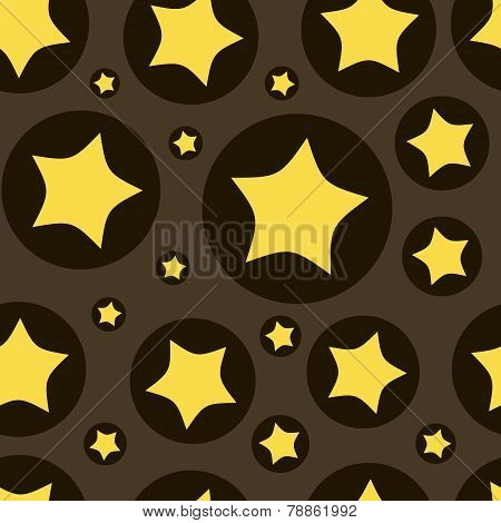 Stars in a circle seamless texture