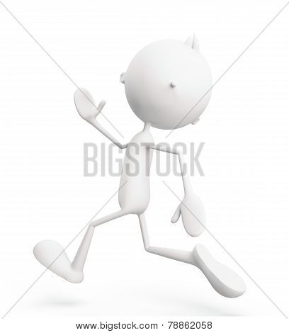 White Character With Run