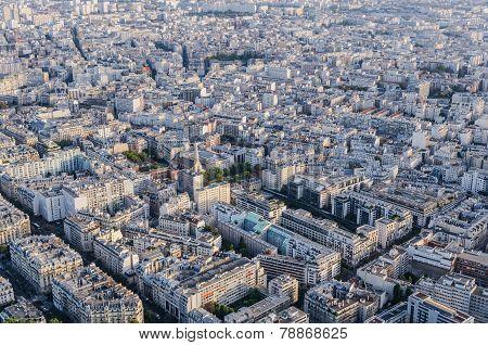 Aerial View Streets Paris