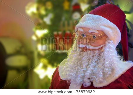 Santa Klaus Figure With Christmas Lights Decoration