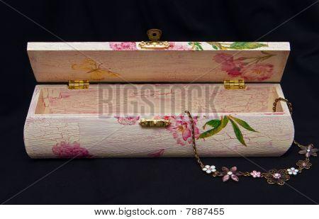 Decoupage Box And Bijouterie