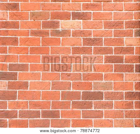 decorative red brick wall texture with cement
