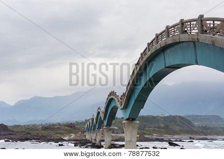Famous bridge at Sanxianta in Chenggong Township, Taitung County, Taiwan, Asia.