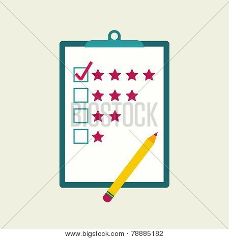 Tablet paper to the rating