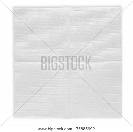 Unfolded Paper Napkin