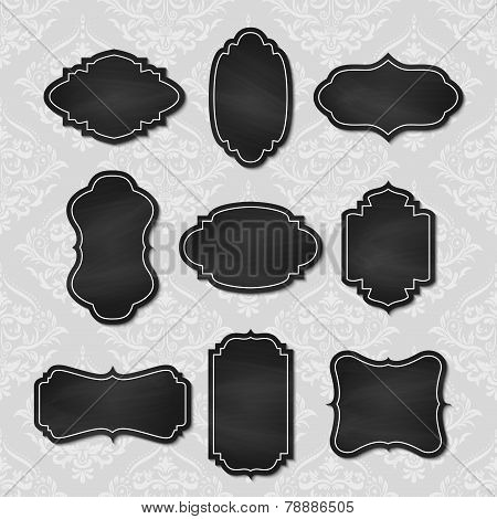 Set Of Vector Vintage Chalkboard Tags