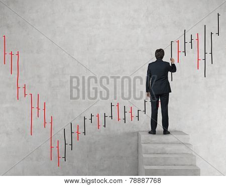 Businessman Drawing Stock Chart