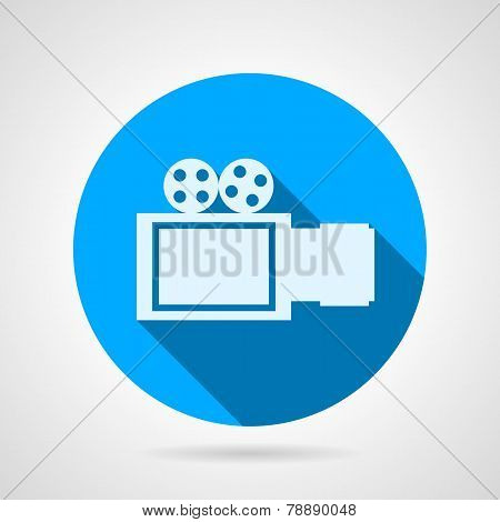 Video camera sign flat vector icon