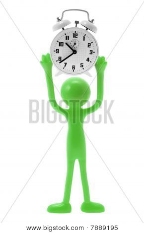 Miniature Figure With Alarm Clock