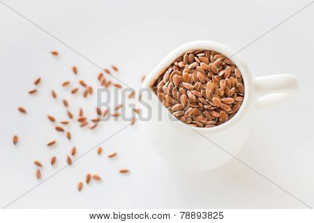 Pitcher Of Organic Brown Flaxseed