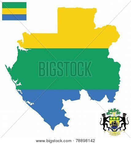 Gabonese Republic Flag