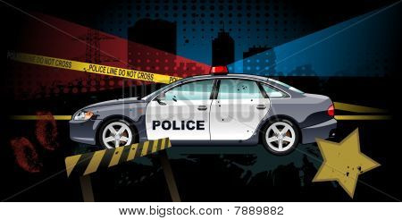 police car - vector illustration