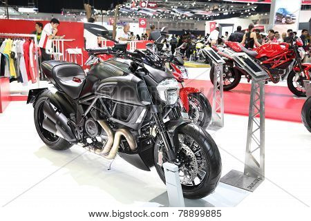 Bangkok - November 28: Ducati Diavel Motorcycle On Display At The Motor Expo 2014 On November 28, 20