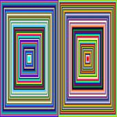 picture of hypnotic  - An hypnotic vintage colored squares background pattern - JPG