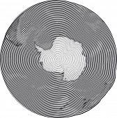 image of south-pole  - Guilloche Vector Illustration of South Pole Uzumaki stile - JPG