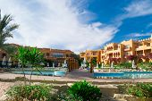 Постер, плакат: SHARM EL SHEIKH EGYPT DECEMBER 15: The tourists are on vacation at popular hotel on December 15