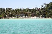 stock photo of southeast  - scenic views of the coastline of Boracay Island Philippines Southeast Asia  - JPG