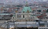 pic of overpopulation  - Aerial view of the city of vienna with church and dome