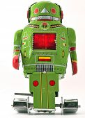 stock photo of robotics  - retro robot toy - JPG