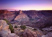 picture of nightfall  - This is a fine art photograph of the little grand canyon in Utah call the San Rafael Swell - JPG