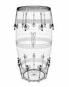 pic of congas  - Djembe Drum Groove body structure wire model - JPG