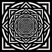 picture of hypnotizing  - Abstract Black and white hypnotic background - JPG