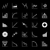 picture of fibonacci  - Economic and investment diagram line icon on gray background stock vector - JPG